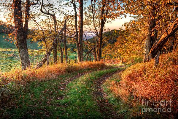 Wall Art - Photograph - A Kiss Of Fall Colors I - Blue Ridge Parkway by Dan Carmichael