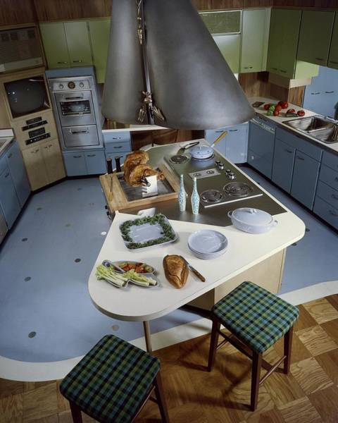 Oven Photograph - A Kitchen Designed By Ralph & Jane Bonnell by George De Gennaro
