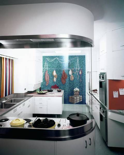Photograph - A Kitchen Designed By Valerian S. Rybar by John Rawlings