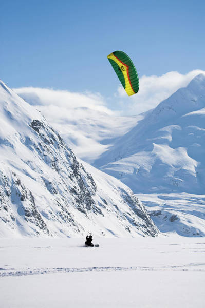 Traction Photograph - A Kiteboarder Harnesses The Wind by Scott Dickerson