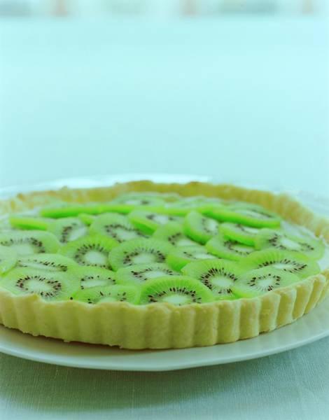 Dessert Photograph - A Kiwifruit Tart by Romulo Yanes