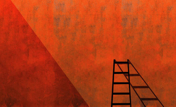 Wall Art - Photograph - A Ladder And Its Shadow by Inge Schuster