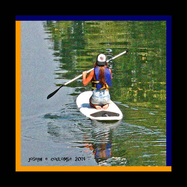 Photograph - A Lady On Her Paddle Board by Joseph Coulombe