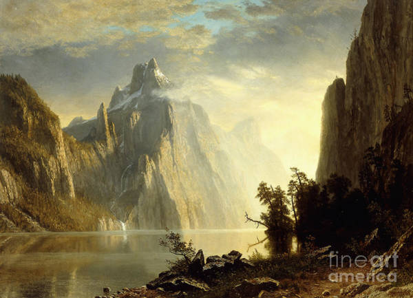 Painting - A Lake In The Sierra Nevada by Albert Bierstadt