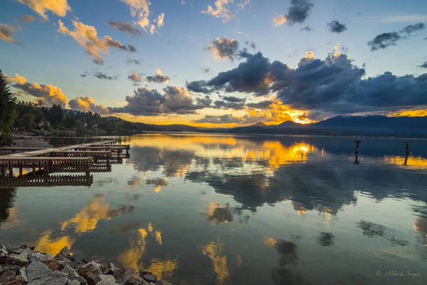 Photograph - A Lake Pend Oreille Sunset  -  120601a-040 by Albert Seger