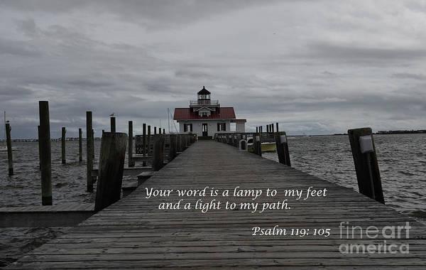 Roanoke Marshes Light Wall Art - Photograph - A Lamp To My Feet by Debra Johnson