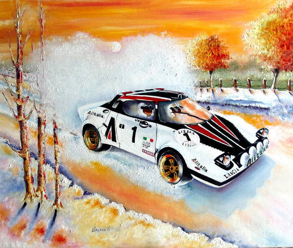 Painting - A Lancia Stratos In Full Song by Anne Dalton