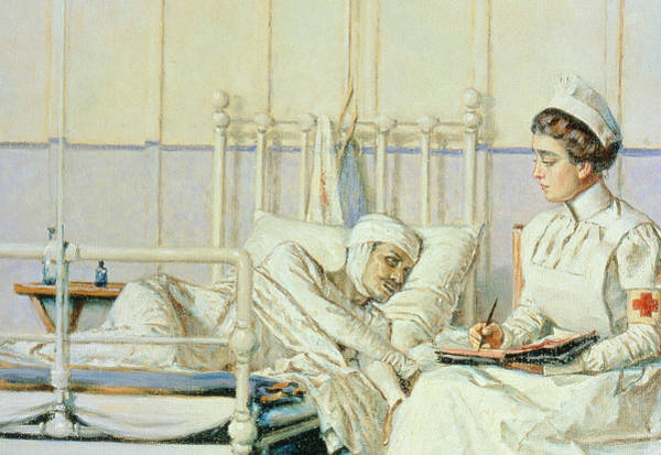 Ward Painting - A Letter To Mother by Piotr Petrovitch Weretshchagin