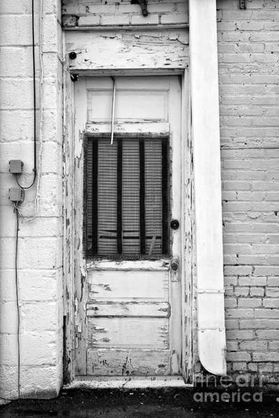 Photograph - A Lexington Door Bw by Patrick M Lynch