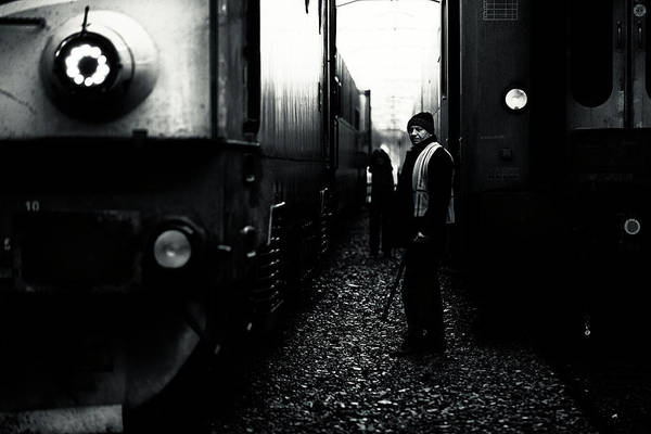 Railroads Photograph - A Life Between Trains by Julien Oncete