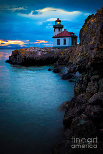 North Coast Harbor Photograph - A Light In The Darkness by Inge Johnsson