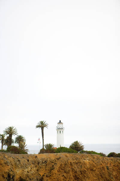 Point Vicente Wall Art - Photograph - A Lighthouse On A Peninsula With Rocky by Ty Milford