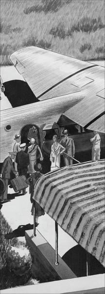 Wall Art - Digital Art - A Lindbergh Airplane In The Arizona Desert by Lemon
