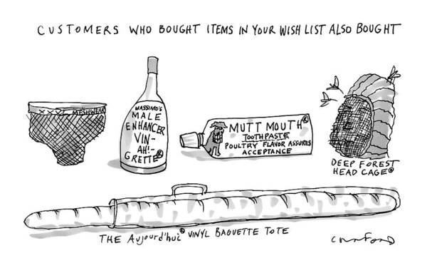 Wine Drawing - A List Of What Other Customers Bought Based by Michael Crawford