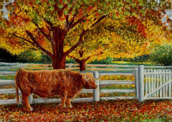 Pastel - A Shaker Fall by Sam Davis Johnson
