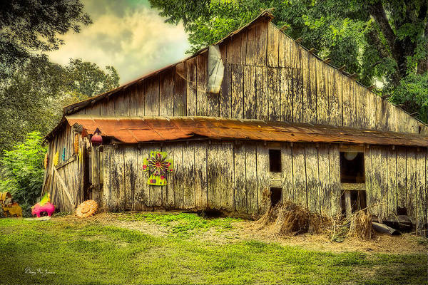 Photograph - Farm - Barn - A Little Color by Barry Jones