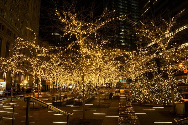 A Little Golden Garden In The Heart Of Manhattan New York City Art Print
