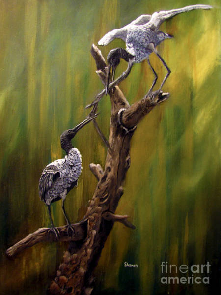 Stork Painting - A Little Help From My Friends by Sharon Burger