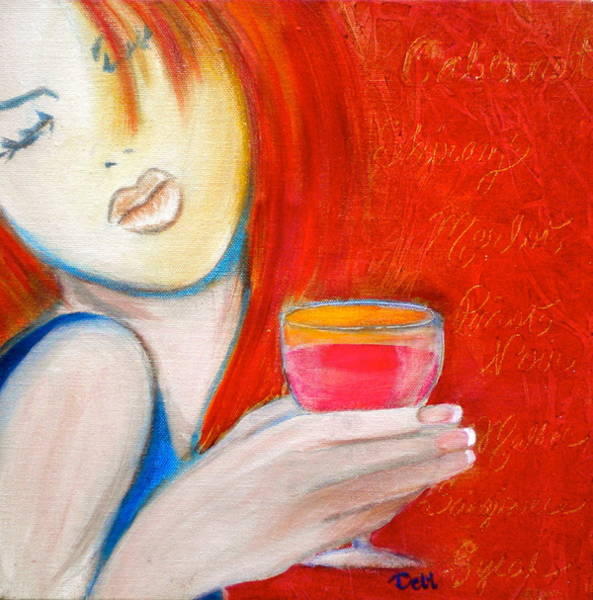 Flirtatious Painting - A Little Tart by Debi Starr