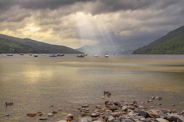 Photograph - A Loch Tay Sunset - Scotland - Boats by Jason Politte