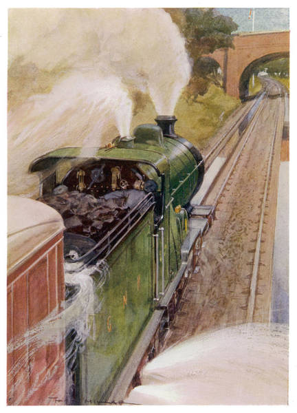 Wall Art - Drawing - A Locomotive Of The Great  Northern by Mary Evans Picture Library
