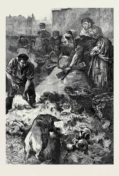 Dust Drawing - A London Dust Yard 1873 by English School