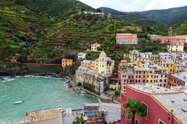 Vernazza Photograph - A Lonely Boat - Cinque Terre In The by Maria Swärd