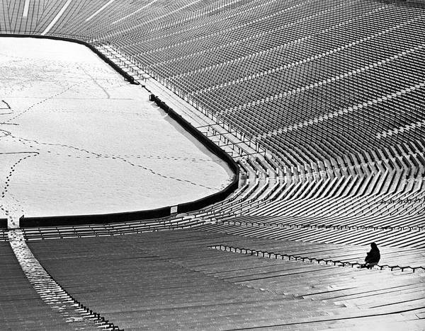 Dedicated Wall Art - Photograph - A Lonely Diehard Fan by Underwood Archives