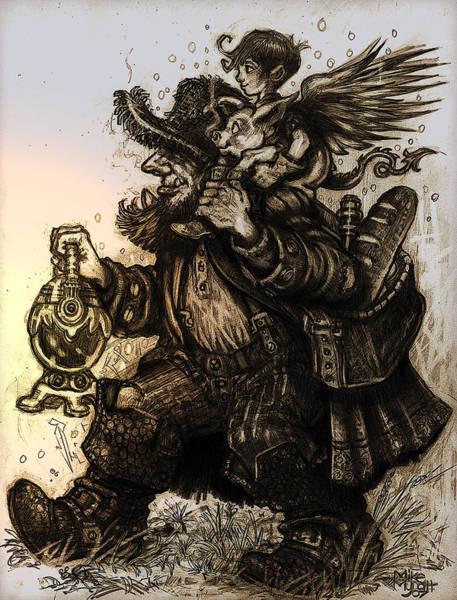 Holy Ghost Drawing - A Long Journey by Michael Mynatt