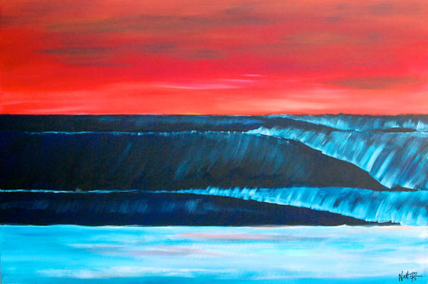 Painting - A Long Way Out To The Blue Horizon by Nathan Paul Gibbs