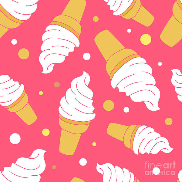 Wall Art - Digital Art - A Lot Of Ice Cream Hand Drawn by Talirina