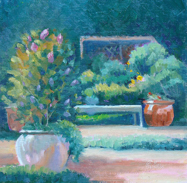 Painting - A Lovely Place To Sit by Judy Fischer Walton