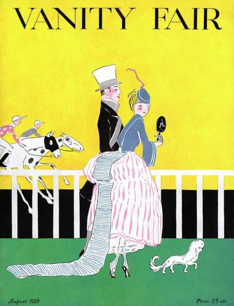Race Horse Photograph - A Magazine Cover For Vanity Fair Of A Couple by Ethel Plummer