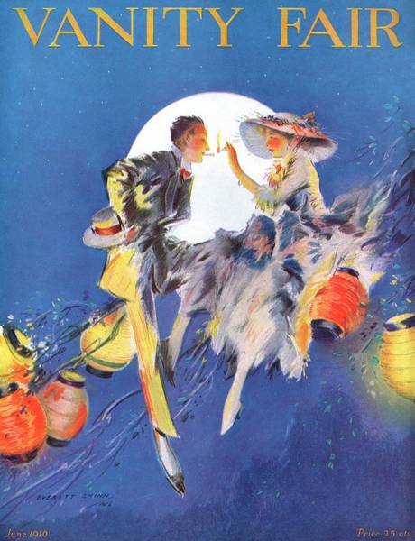Moon Photograph - A Magazine Cover For Vanity Fair Of A Couple by Everett Shinn