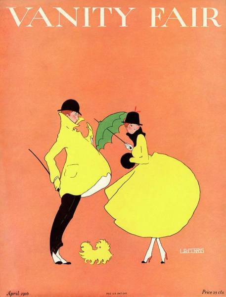 Copy Photograph - A Magazine Cover For Vanity Fair Of A Couple by L. A. Morris