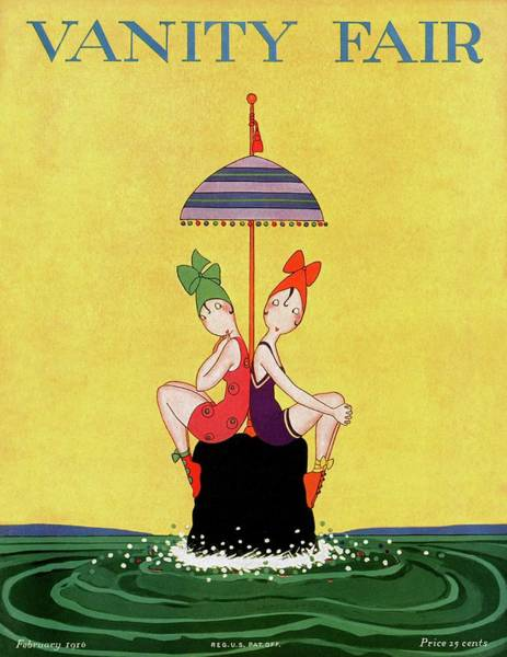 Water Photograph - A Magazine Cover For Vanity Fair Of Two Women by A. H. Fish