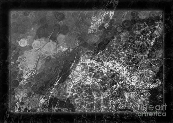 Painting - A Magical Face In The Water Abstract Black And White Painting by Omaste Witkowski