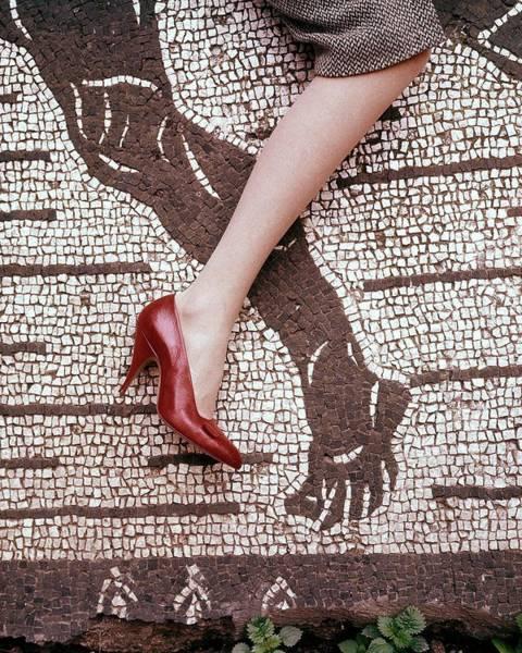 Italy Photograph - High Heel On Roman Mosaic by Leombruno-Bodi