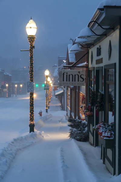 Quaint Photograph - A Maine Street Christmas by Patrick Downey