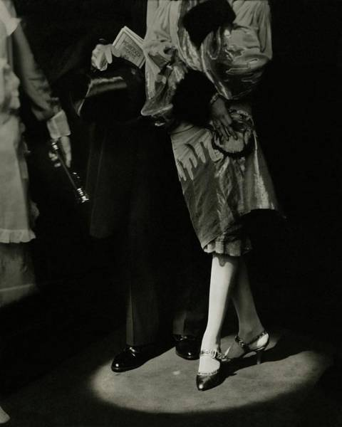 Theater Photograph - A Male And Female Model by Edward Steichen