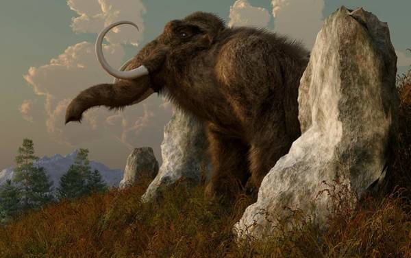 Digital Art - A Mammoth On Monument Hill by Daniel Eskridge