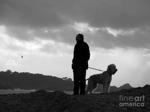 Photograph - A Man A Dog And A Storm by James B Toy