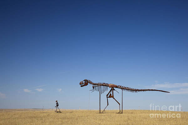 Photograph - A Man And His Dinosaur by Jim West