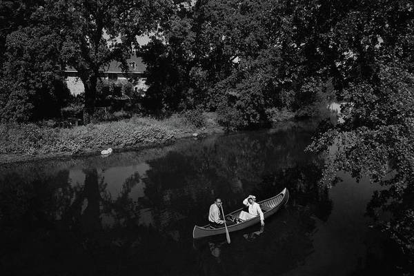 California Photograph - A Man And Woman In A Canoe On A Lake by Roger Sturtevant