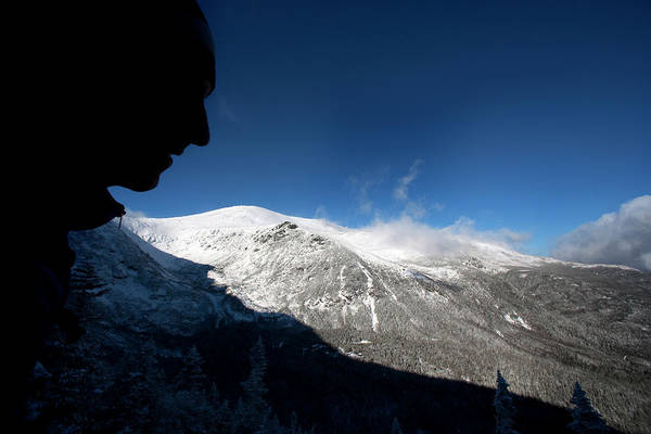 New Years Day Photograph - A Man Hikes The Boott Spur Link by Jose Azel