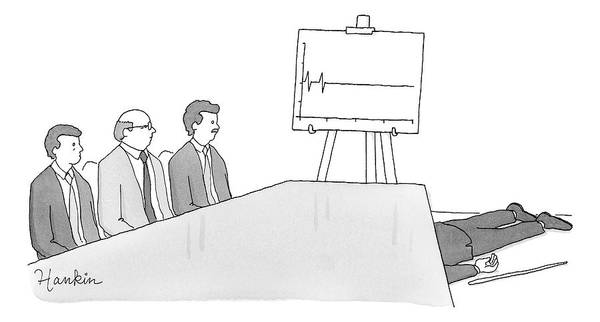 Drawing - Flatline Business Meeting by Charlie Hankin