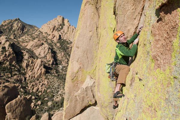 Tombstone Arizona Photograph - A Man Rock Climbing In Cochise by Kennan Harvey