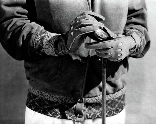 Golf Club Photograph - A Man Wearing Gloves by Edward Steichen