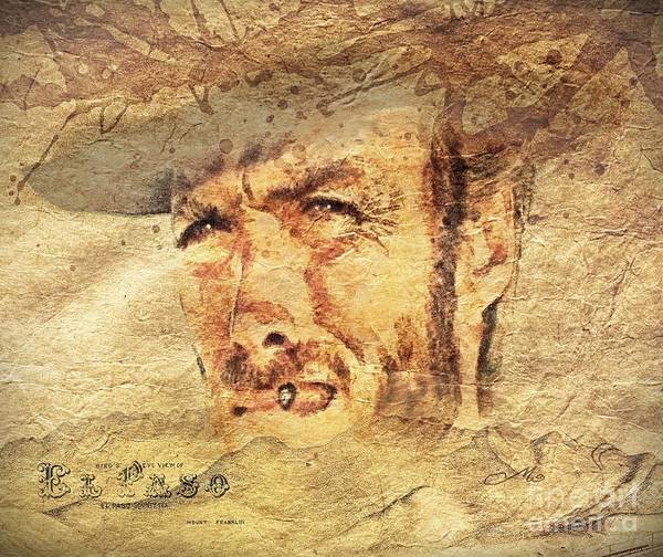 Sepia Painting - A Man With No Name by Mo T