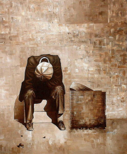 Painting - A Man's Fate by Laurend Doumba